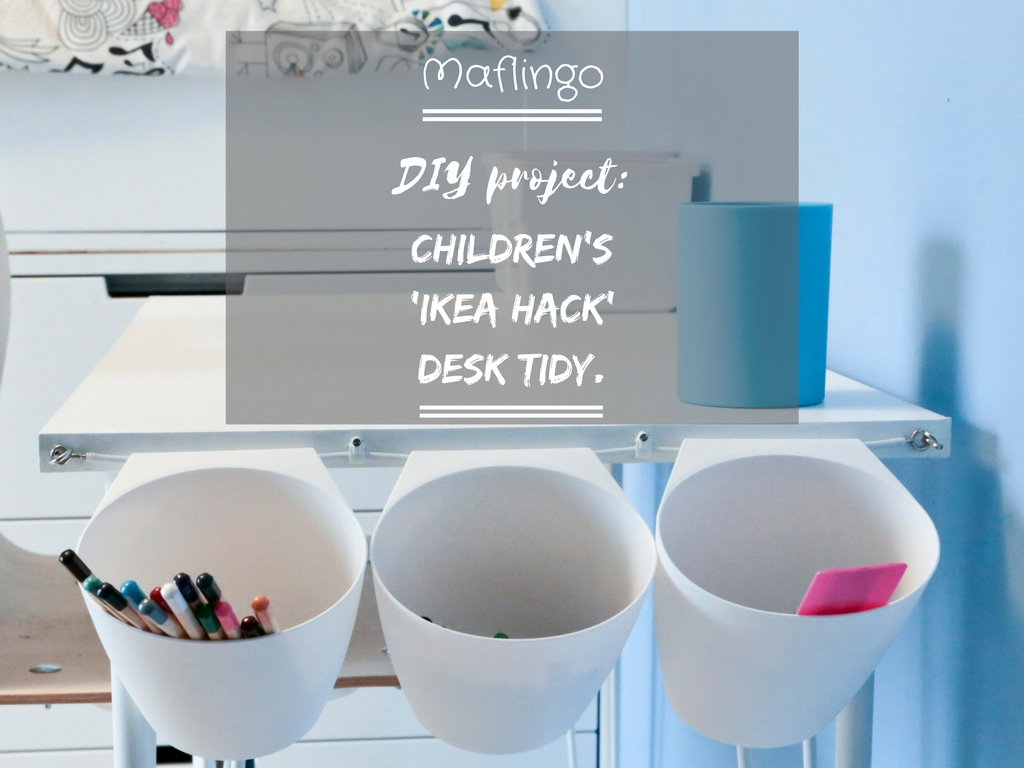 diy project children 39 s 39 ikea hack 39 desk tidy maflingo. Black Bedroom Furniture Sets. Home Design Ideas