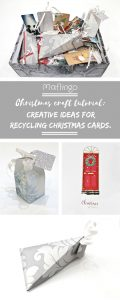 Step-by-step Christmas Craft tutorial. 4 creative ides for recycling your old used Christmas cards and wrapping paper. Gift boxes, book marks & gift tags.