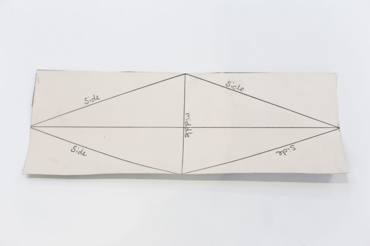 Mark out triangular box