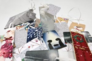 Selection of recycled card items