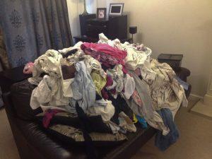 Massive ironing pile