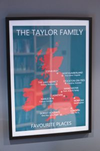 Taylor Family Favourite Places Print