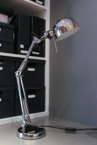 Forsa Work Lamp, Nickel Plated, £15