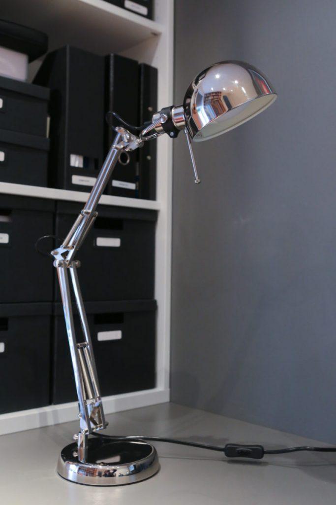 Forså Work Lamp, Nickel Plated, £15