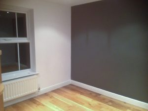 Empty Room with Monument Grey Wall