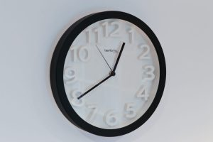 Benson Black Raised Numbers Wall Clock