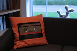 Retro tape cushion