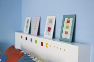 Ikea Hack Children's cabin bed & bedroom makeover finishing touches Ikea Lolly pop prints