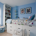 Ikea Hack children's cabin bed & bedroom makeover Nordli Chests and Billy Bookcase