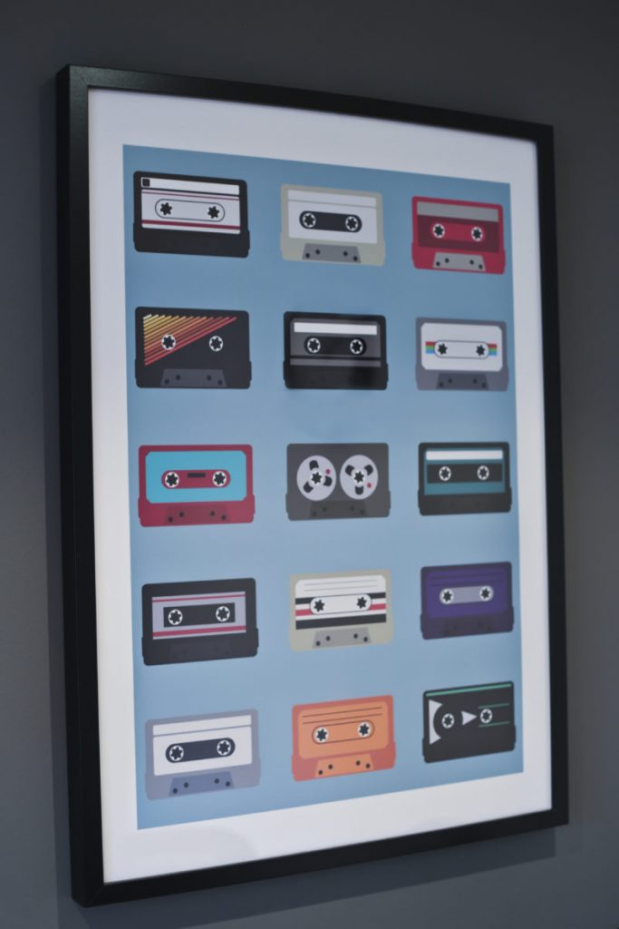 Jeremy Harnell Retro Tapes Print