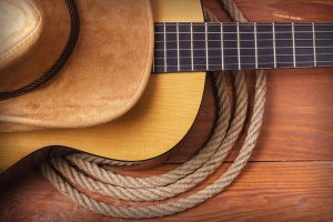 Country Music hat rope guitar