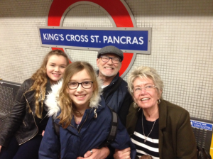 Grandma, Desmond and girls in London