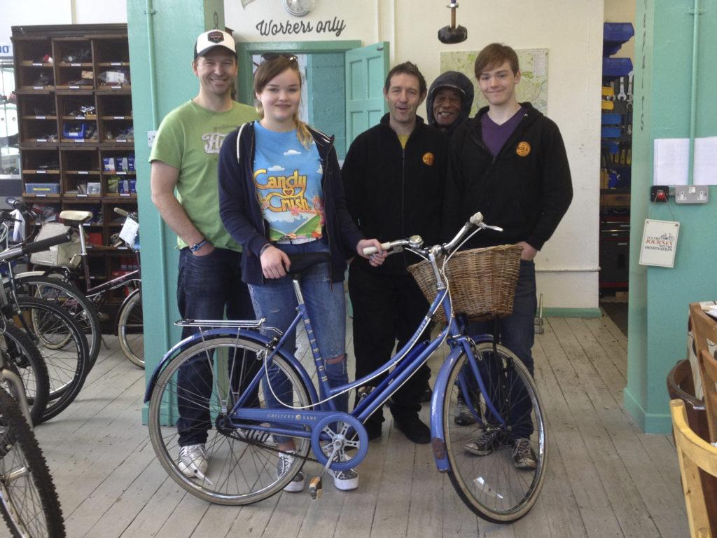 Beth, her bike and the Nottingham Bike Works Team