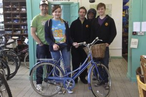 Beth, her bike and the Nottingham Bike Works Team
