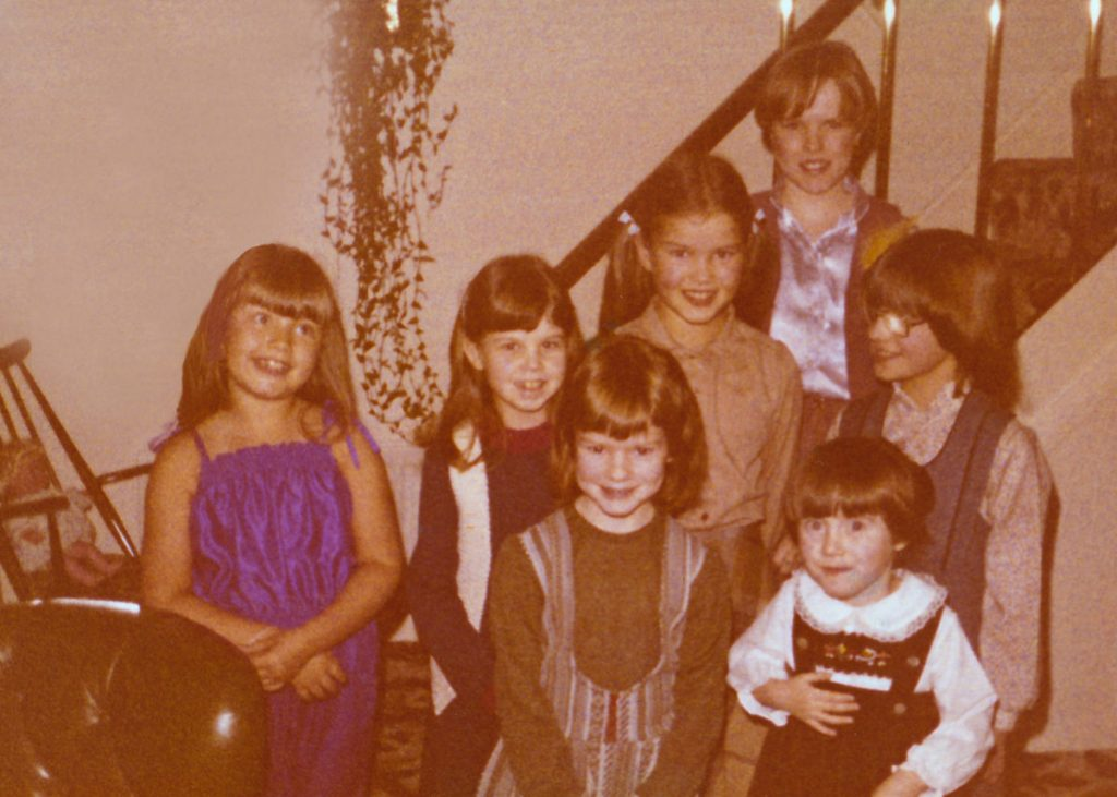 1970s Children's birthday party guests