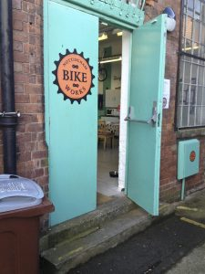 Nottingham Bike Works Entrance