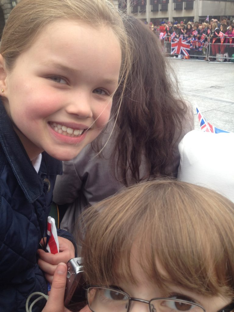 Kids waiting for Queen in Nottingham, Diamond Jubilee