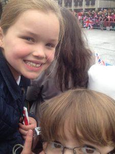 Kids waiting for Queen in Nottingham, Diamond Jubilee