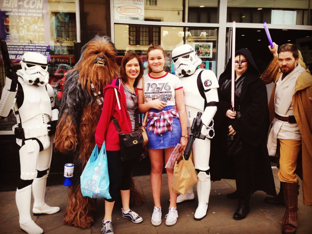 Me and beth and the characters from Star Wars