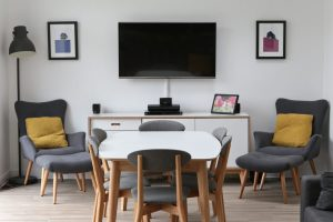 How we used bold, bright colours to transform our grey & white space.