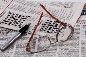 Newspaper and crossword puzzles