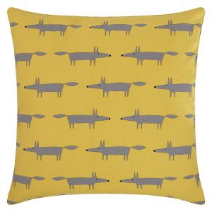 Scion Mini Mr Fox Cushion, Yellow / Grey (John Lewis, £25)