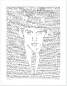 George Harrison Hand Drawn Print by Mike Matola