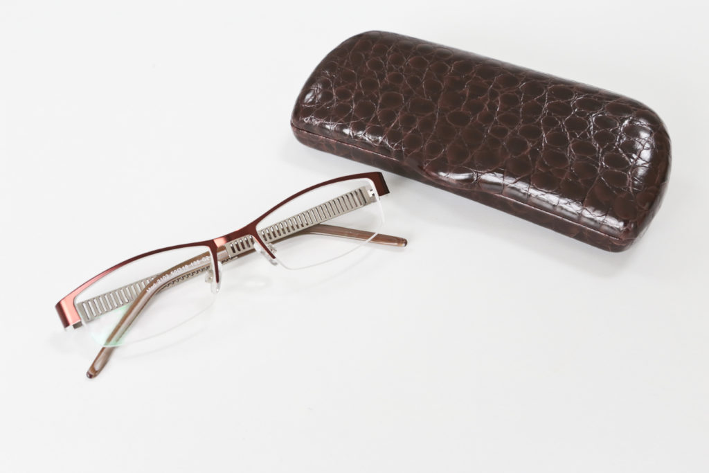 My glasses from The Glasses Box came in a nice quality case. They have a modern semi-rimless design and I love the brown colour. It suits my colouring.