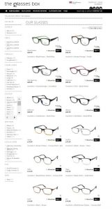 There are plenty of styles of glasses on offer in The Glasses Box collection. Rimless, sem-rimless, lots of colours and materials.