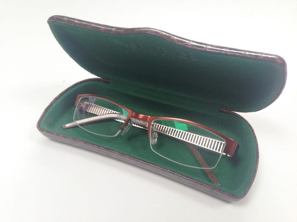 My Blake glasses from the Glasses BOx come in a nice quality lined glasses case with a lens cloth.