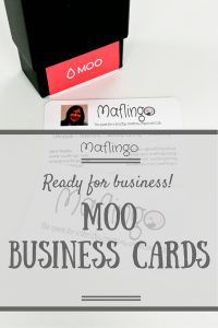 It's official! Maflingo is my blog and I'm a blogger. My business cards tell me so and they arrived last week. I love my Moo cards. They were easy to customise with my Maflingo logo and my profile photo and all of my social media details.
