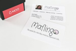 I'm a blogger this I know, cos my Moo cards tell me so!
