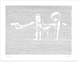 Pulp Fiction Hand Drawn Print by Mike Matola