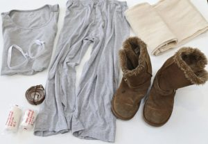 Items you will need for your Rey Star Wars costume: dust sheet, bandages, elastic, fake uggs, Primark vest, old pyjama bottoms, brown leather belt.