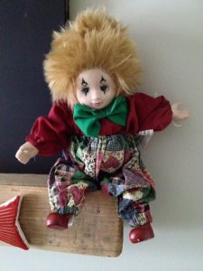 Freaky Clown doll ornament