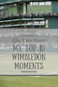 It's Wimbledon Time. WImbledon is why I love tennis. Find out my top 10 WImbledon Moments.