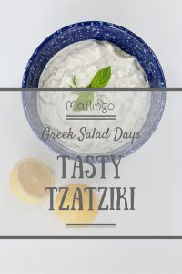 Tzatziki Salad is such a simple recipe to make but it is a perfect Al Fresco addition to your barbeque or summer buffet. This delicious Greek yoghurt and cucumber dip is so fresh and tasty and perfect with warm pitta bread or crudites. Bring on the summer!