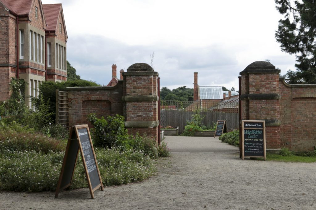 ntrance gate to the walled garden at Clumber Park National Trust Property
