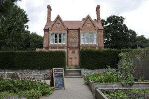The front view of the head gardener's house Clumber Park National Trust Property. Although he was well regarded to have such a fine house, because he was the gardener there was no front door to the house, only a side door.