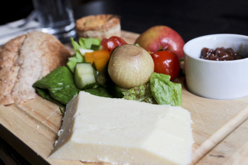 Ploughman's Lunch served at the Garden Tea Rooms, Clumber Park National Trust.