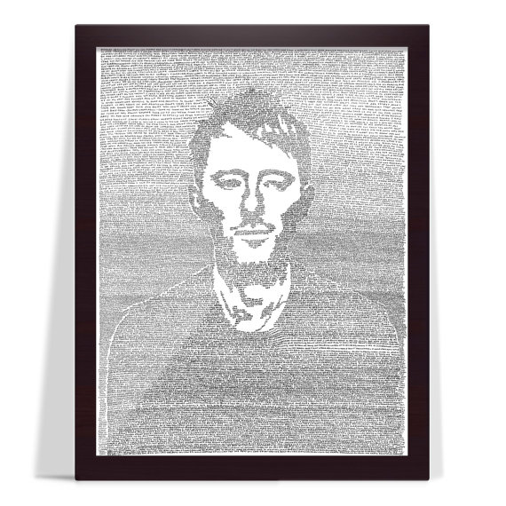 Mike Matola's line-by-line drawing of Thom Yorke from Radiohead