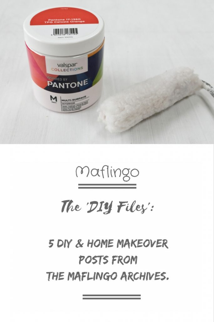 The DIY Files: 5 DIY & Home Makeover Posts from the Maflingo Archives. I select my favourite DIY projects in cluding my Study and Bedroom Ikea Hacks and finnishing touches like shelves & desks.
