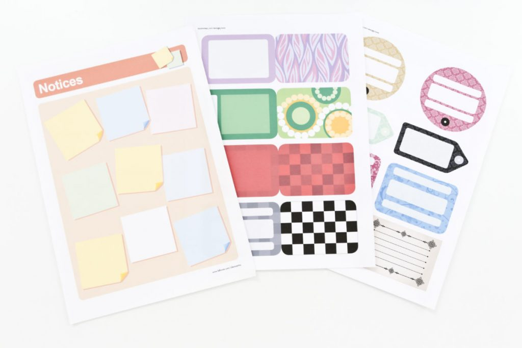 Examples of Free Printables to download from the Fellowes Ideas Centre