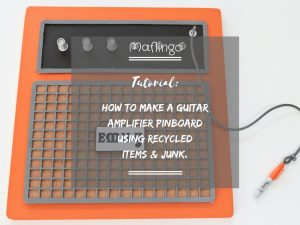 Tutorial: How to make a guitar amplifier pinboard from recycled items and junk. Upcycled Orange Guitar Amplifier Pinboard made from recycled items and Junk. Orange guitar amplifier pinboard