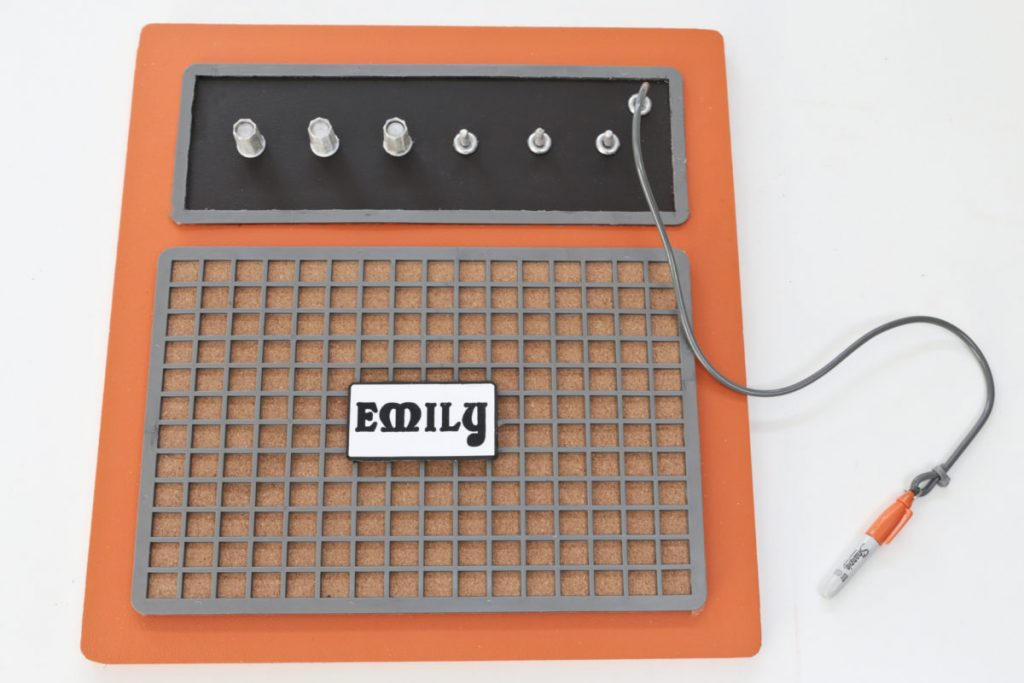 Orange Guitar Amplifier Pinboard made from Junk