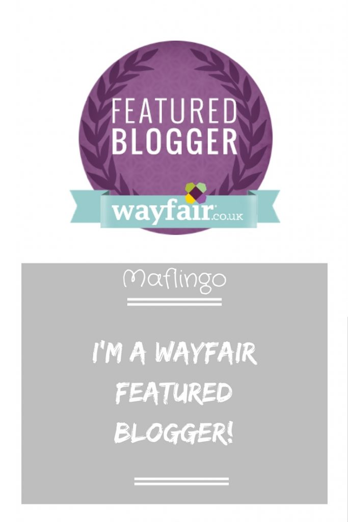 Wayfair Featured Blogger Badge with I'm a Wayfair featured blogger overlay