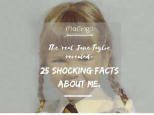 The Real Jane Taylor Revealed: 25 Shocking facts about me. I share the quiz questions we played at my 40th birthday party and reveal some funny facts about me. Love me, love my ways!