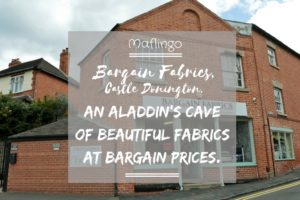 Bargain Fabrics Castle Donington Shopfront, An alladin's cave of beautiful fabrics and leather at bargain prices.