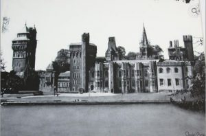 Chris Baker's drawing of Cardiff Castle