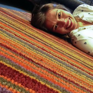 #Floorselfies Me laying on a stripy Paul Smith style carpet
